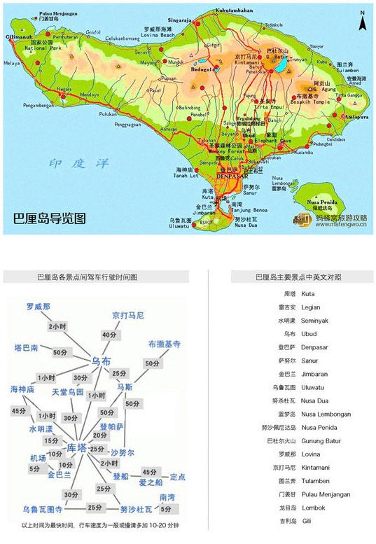 巴厘岛自由行地图攻略——巴厘岛自助游导览图大全