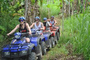 巴厘岛自由行旅游 乌布Bakas ATV四轮越野摩托车自驾一日游 沙滩摩托车热带雨林探险之旅