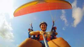 巴厘岛滑翔伞高空飞行体验之旅 Bali Paragliding 巴厘岛自由行一日游预定