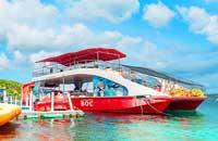 巴厘岛-蓝梦岛-金银岛-佩尼达岛-吉利岛-龙目岛之间的地理方位地图